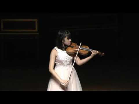 2019年12月22日 青山 暖(中学3年生)&Friendsコンサート1イザイ:無伴奏ヴァイオリンソナタ第6番